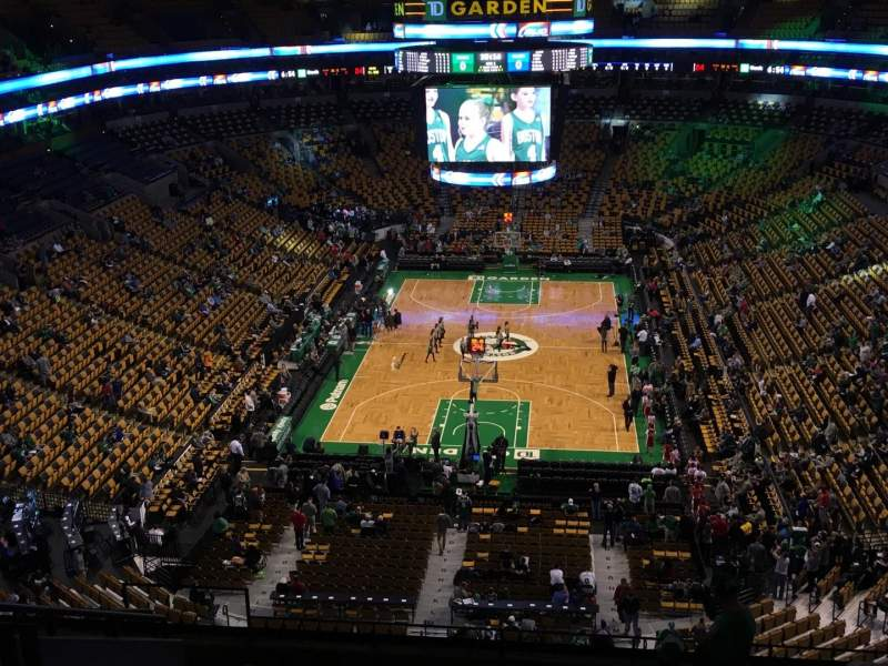 Seating view for TD Garden Section Bal 323 Row 11 Seat 15