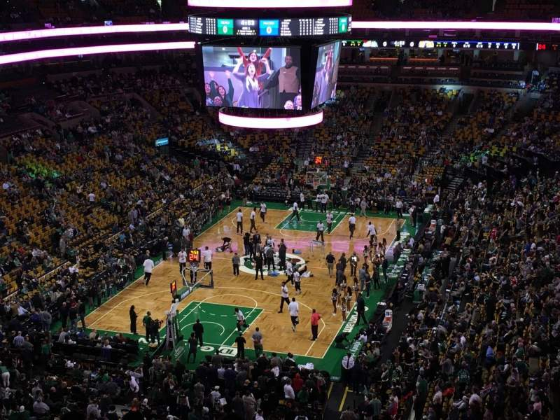 Seating view for TD Garden Section Bal 307 Row 8 Seat 8
