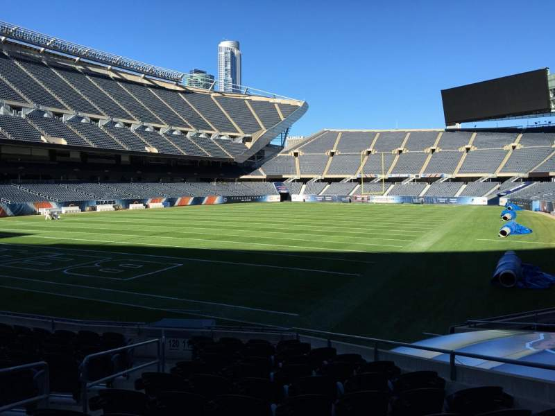 Seating view for Soldier Field Section 119 Row 12 Seat 5