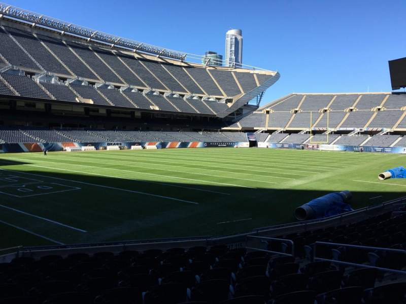 Seating view for Soldier Field Section 117 Row 11 Seat 11