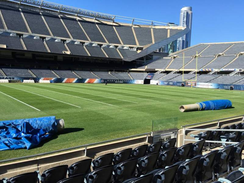 Seating view for Soldier Field Section 111 Row 6 Seat 8