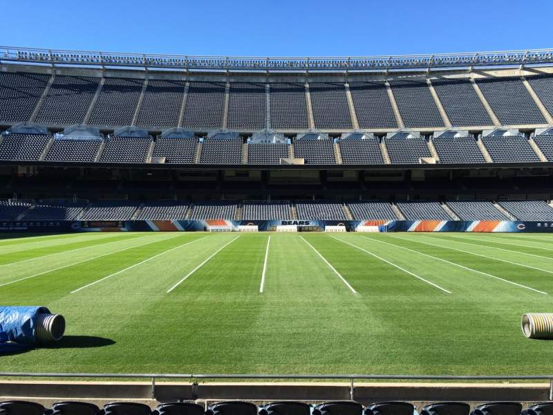 Seating view for Soldier Field Section 110 Row 7 Seat 13