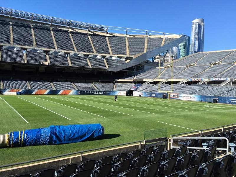Seating view for Soldier Field Section 108 Row 7 Seat 10