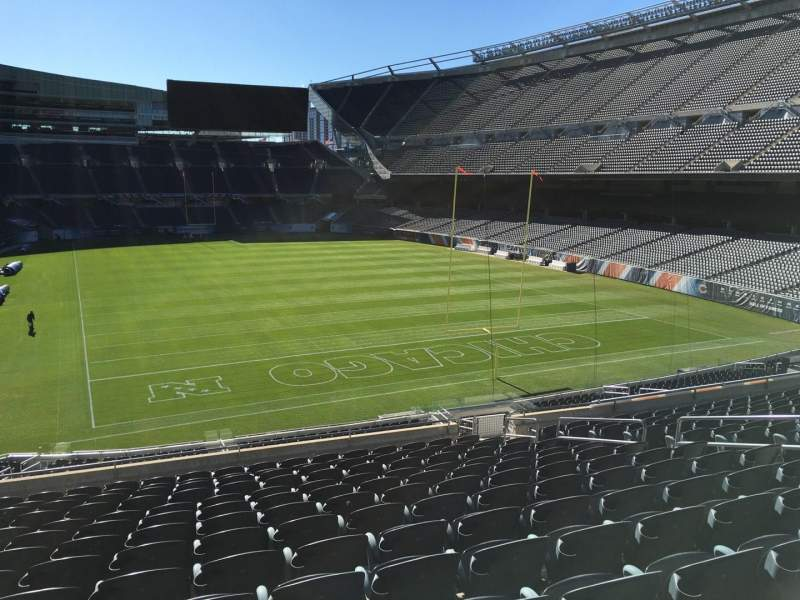 Seating view for Soldier Field Section 254 Row 14 Seat 12