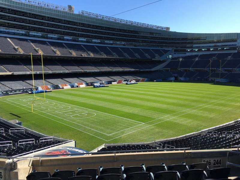 Seating view for Soldier Field Section 246 Row 7 Seat 6