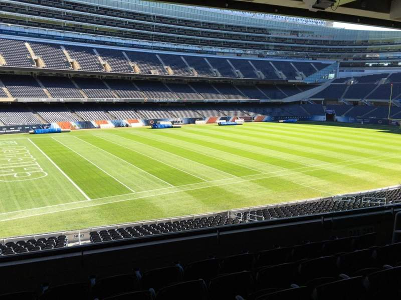 Seating view for Soldier Field Section 243 Row 6 Seat 13