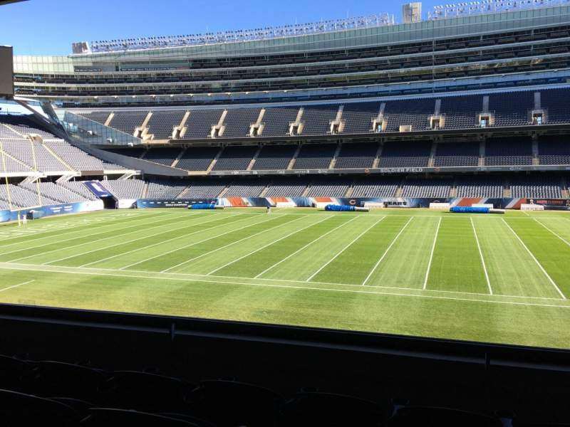 Seating view for Soldier Field Section 235 Row 4 Seat 9
