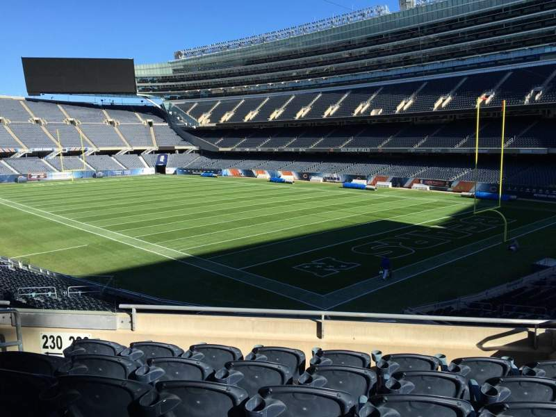 Seating view for Soldier Field Section 228 Row 6 Seat 5