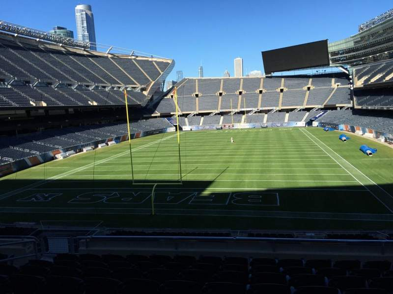 Seating view for Soldier Field Section 221 Row 9 Seat 9