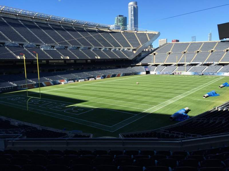 Seating view for Soldier Field Section 218 Row 9 Seat 12