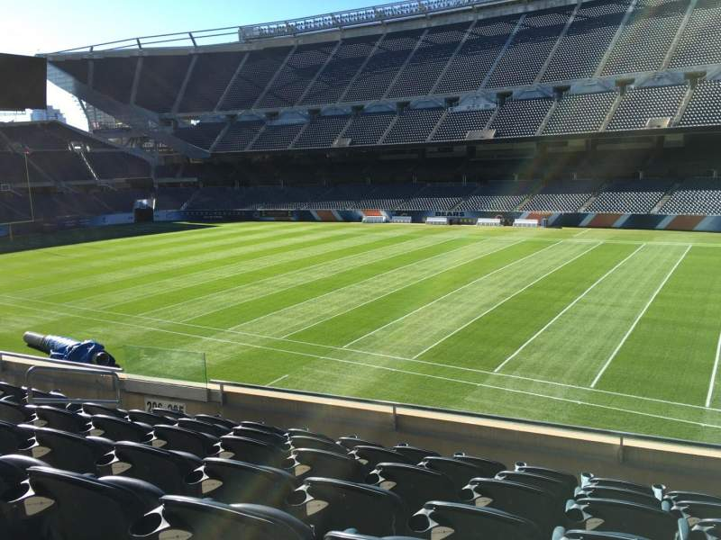Seating view for Soldier Field Section 206 Row 7 Seat 9