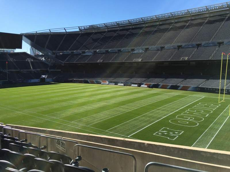 Seating view for Soldier Field Section 203 Row 9 Seat 8