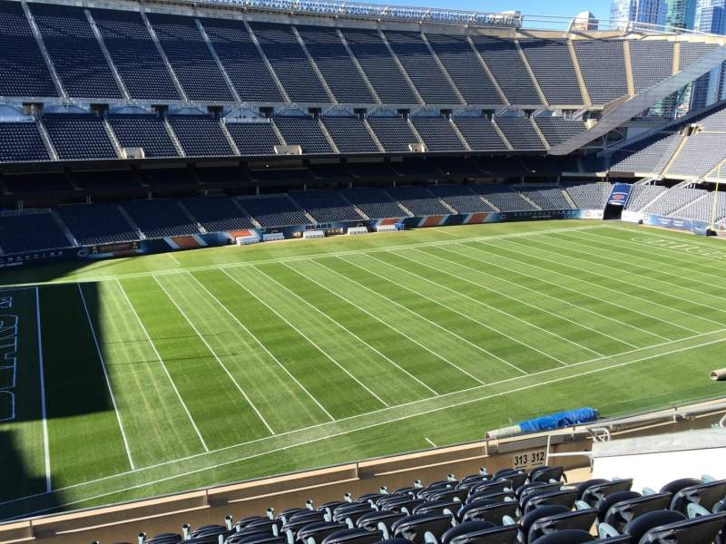 Seating view for Soldier Field Section 313 Row 10 Seat 9
