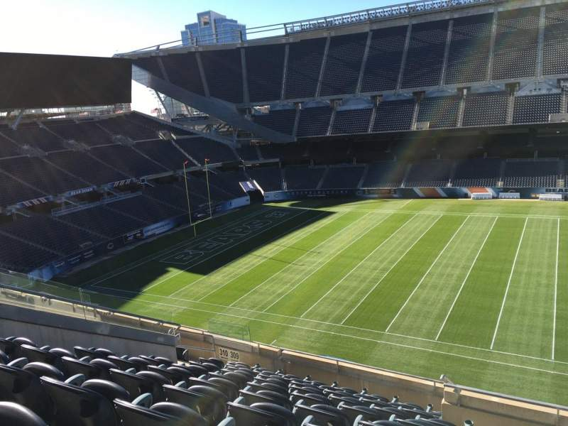 Seating view for Soldier Field Section 309 Row 10 Seat 12