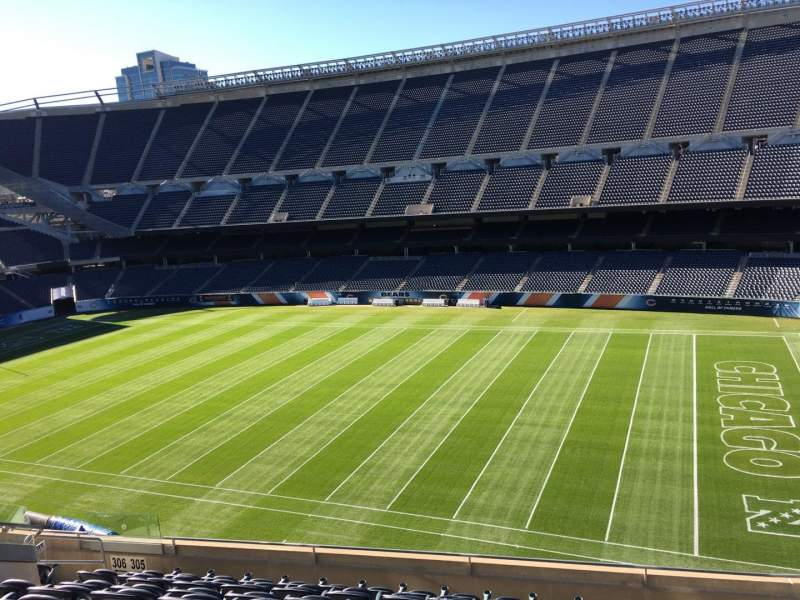 Seating view for Soldier Field Section 305 Row 10 Seat 12