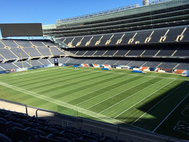 Seating view for Soldier Field Section 331 Row 7 Seat 9