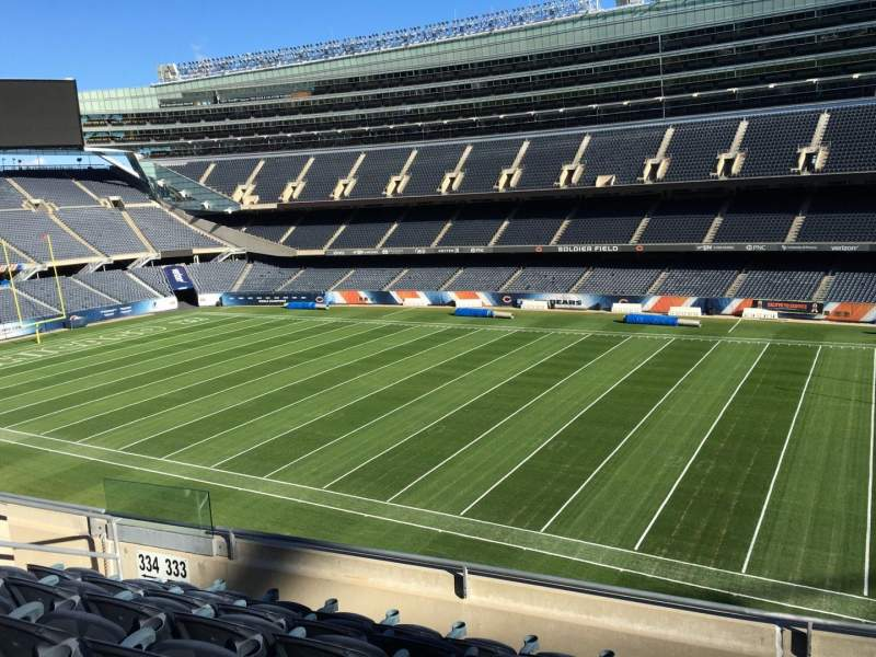 Seating view for Soldier Field Section 333 Row 6 Seat 9