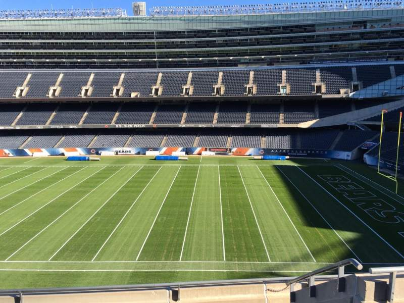 Seating view for Soldier Field Section 334 Row 6 Seat 10