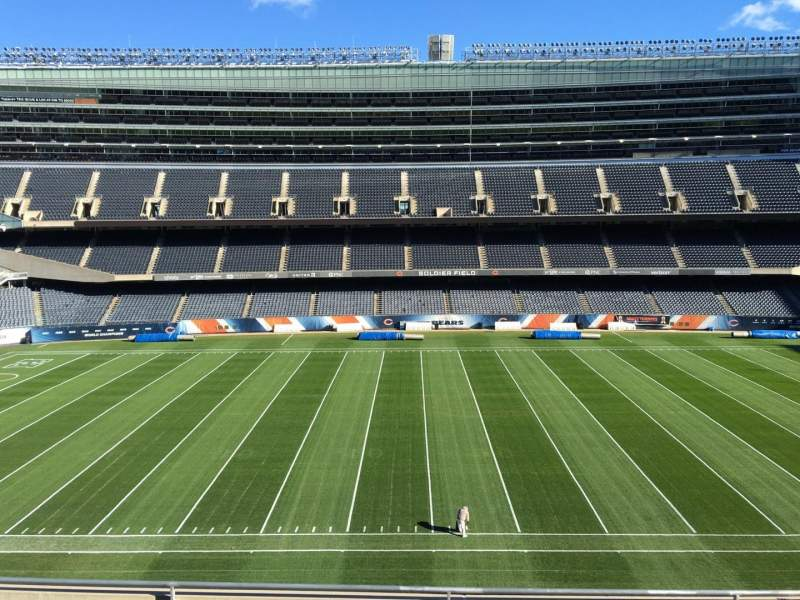 Seating view for Soldier Field Section 338 Row 6 Seat 9