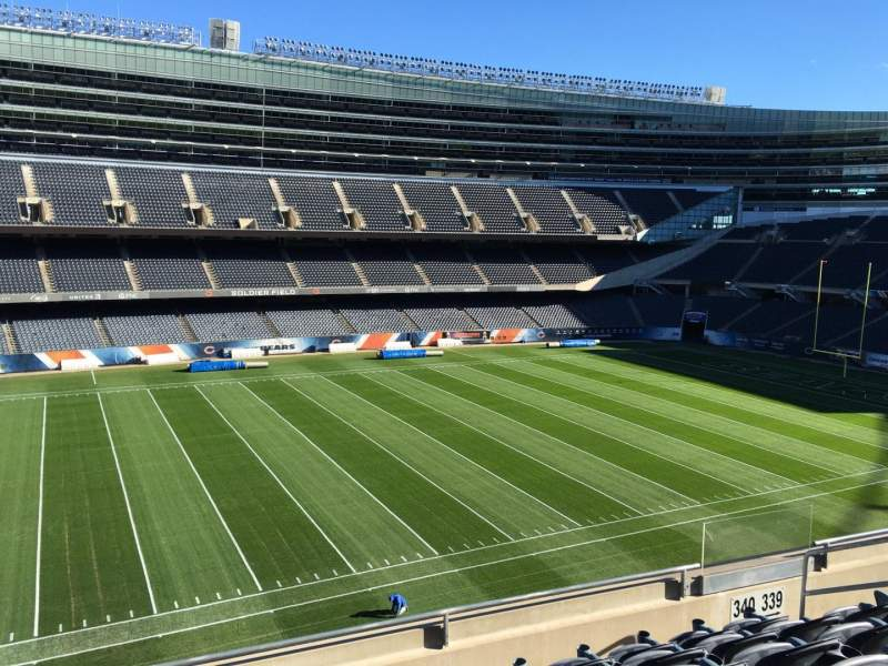 Seating view for Soldier Field Section 340 Row 6 Seat 10