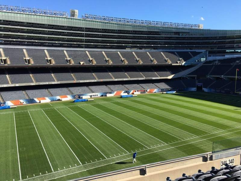 Seating view for Soldier Field Section 341 Row 6 Seat 9