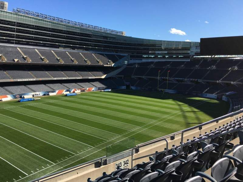 Seating view for Soldier Field Section 343 Row 6 Seat 10