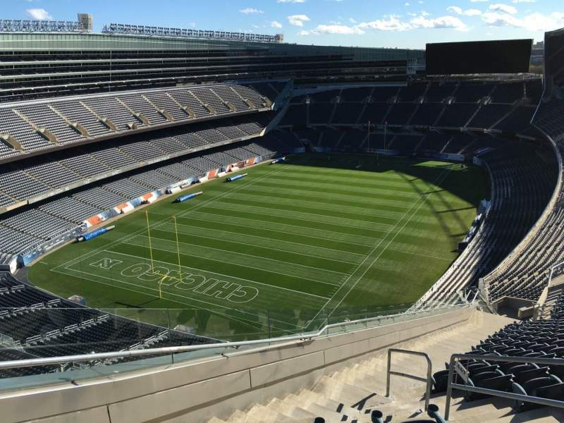 Seating view for Soldier Field Section 447 Row 22 Seat 18