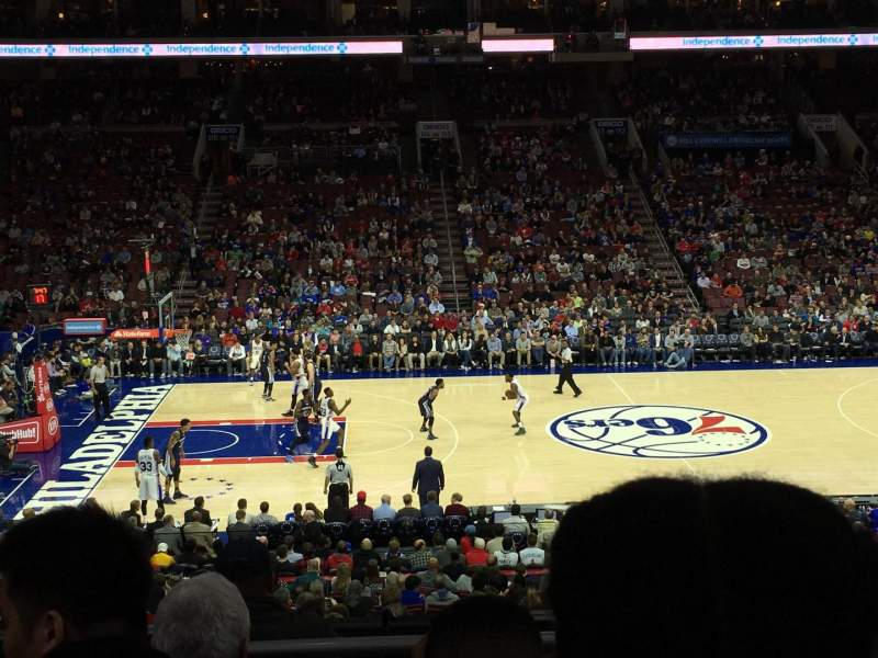 Seating view for Wells Fargo Center Section Club Box 24 Row 1 Seat 15