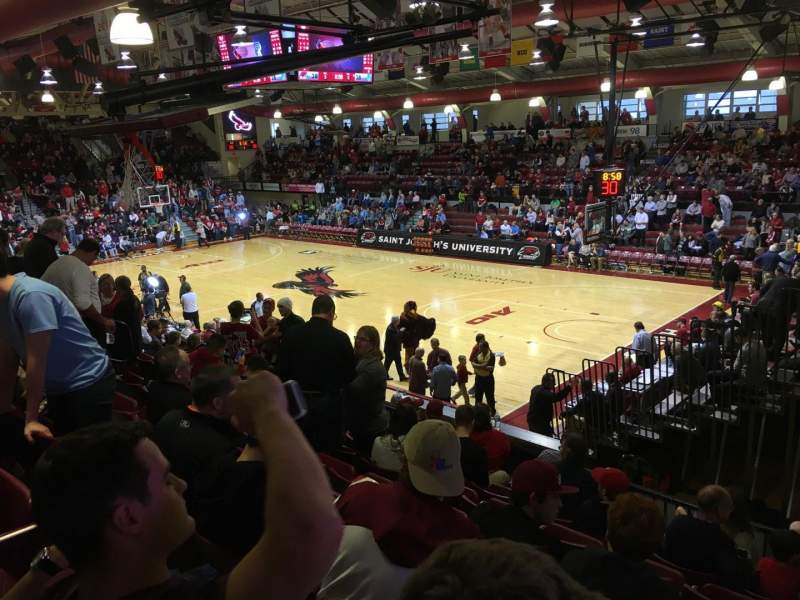 Seating view for Hagan Arena Section 210 Row 8 Seat 1