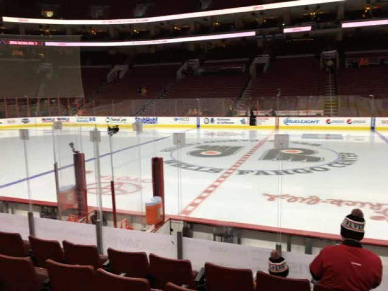 Seating view for Wells Fargo Center Section 101 Row 7 Seat 16