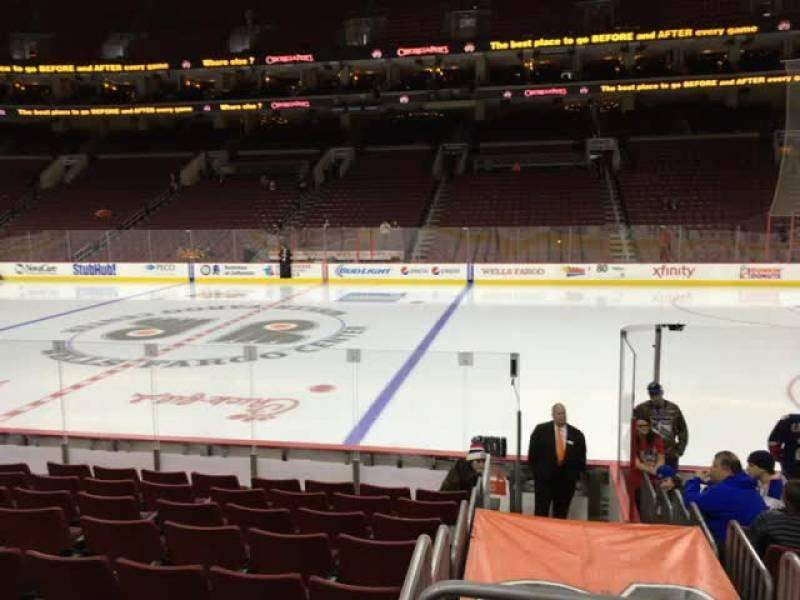 Seating view for Wells Fargo Center Section 102 Row 11 Seat 13