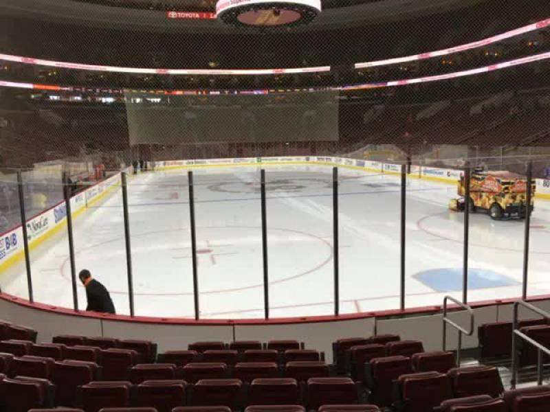 Seating view for Wells Fargo Center Section 105 Row 9 Seat 6