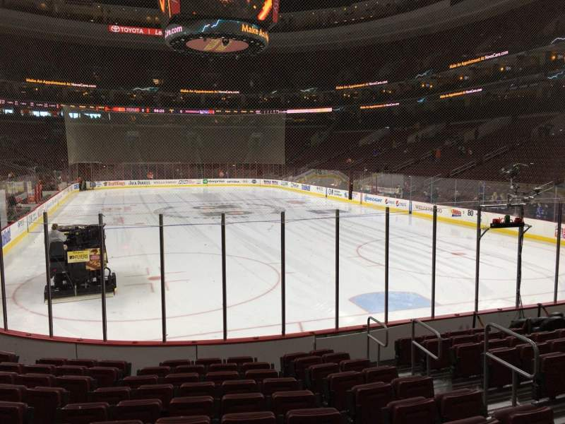 Seating view for Wells Fargo Center Section 106 Row 11 Seat 8