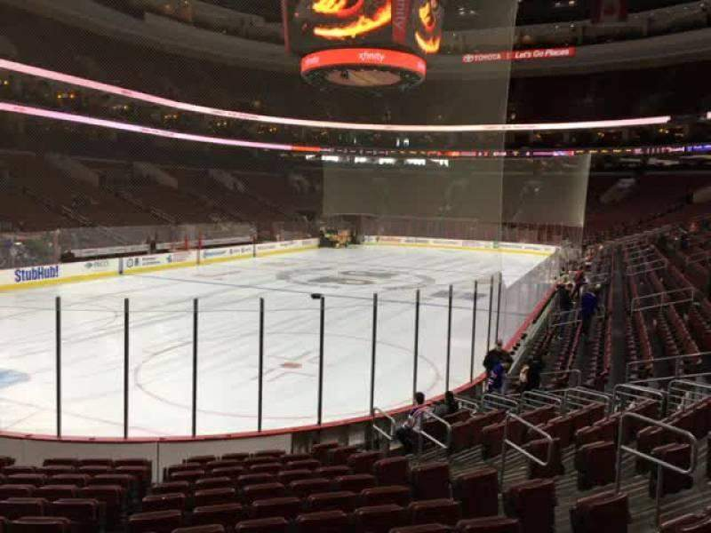 Seating view for Wells Fargo Center Section 109 Row 13 Seat 6