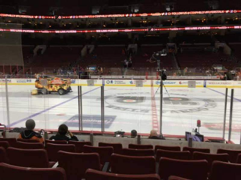 Seating view for Wells Fargo Center Section 113 Row 8 Seat 8
