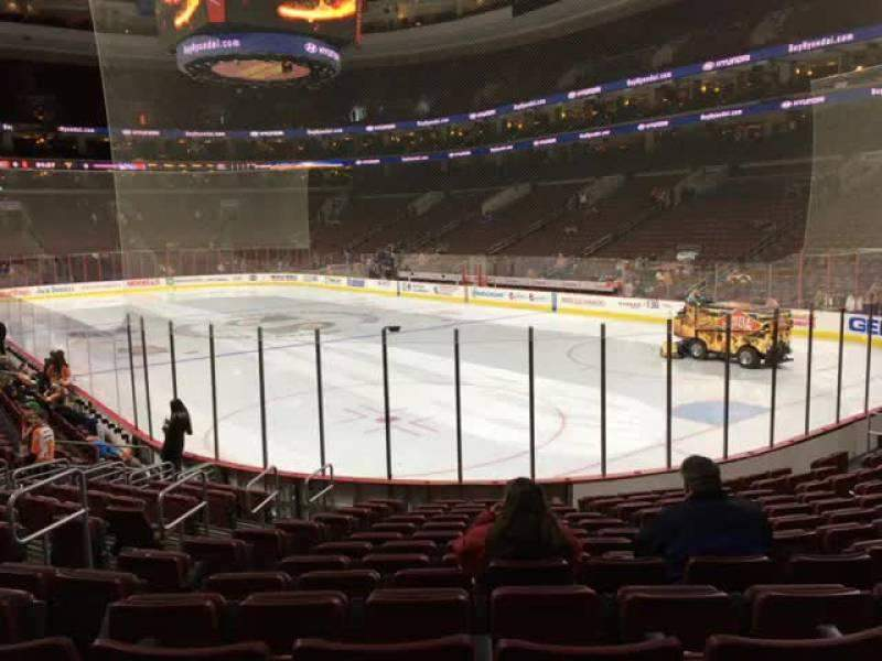 Seating view for Wells Fargo Center Section 117 Row 14 Seat 8