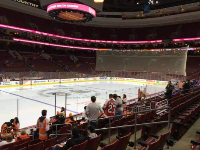 Seating view for Wells Fargo Center Section 123 Row 12 Seat 10