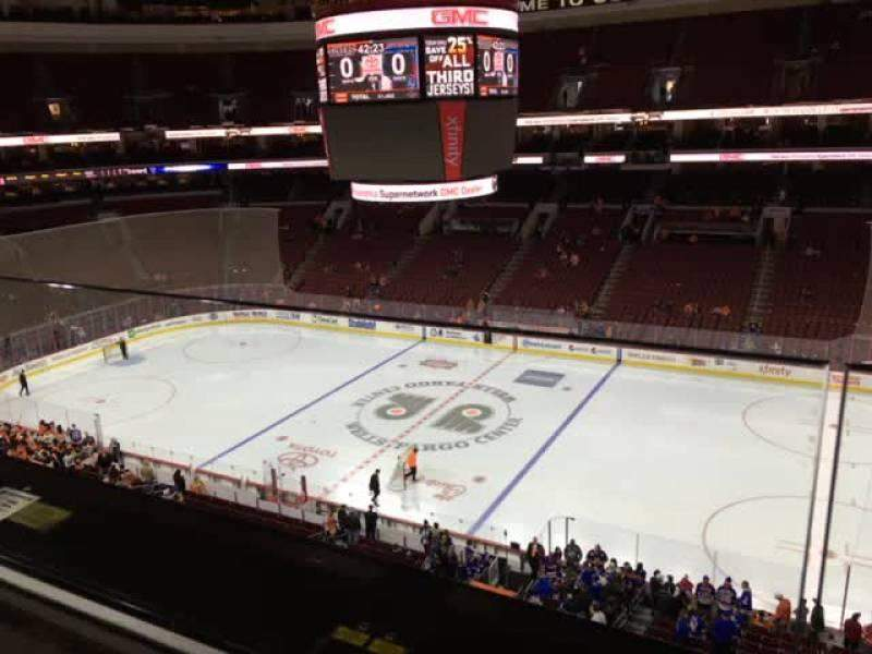 Seating view for Wells Fargo Center Section 203 Row 1 Seat 9