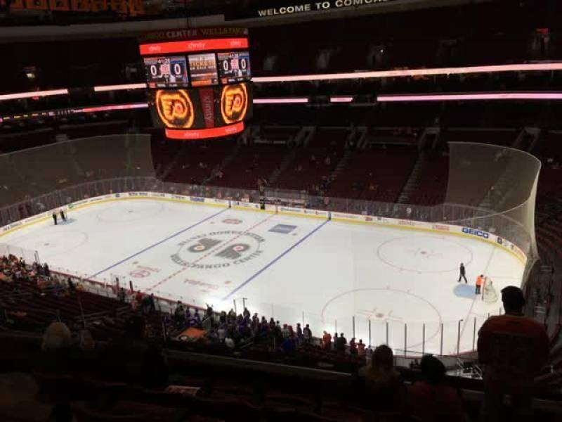 Seating view for Wells Fargo Center Section 204 Row 6 Seat 5