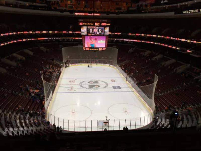 Seating view for Wells Fargo Center Section 207 Row 8 Seat 11