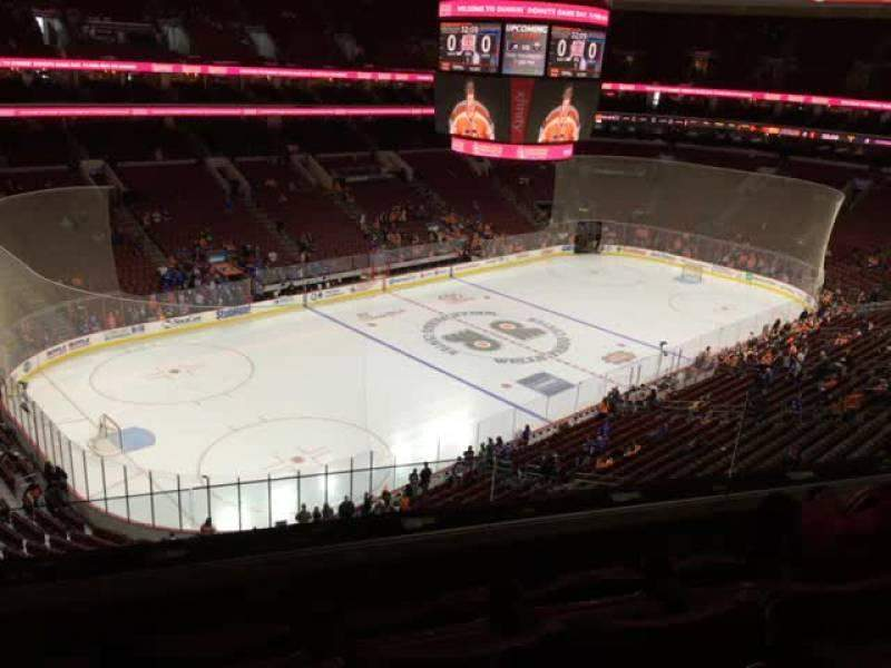 Seating view for Wells Fargo Center Section 210 Row 4 Seat 6