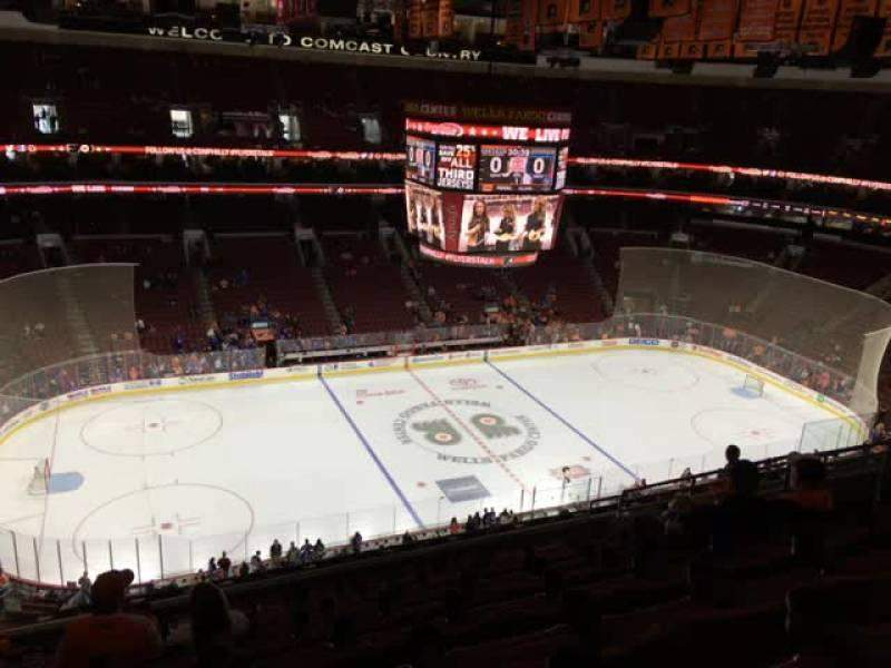 Seating view for Wells Fargo Center Section 211 Row 12 Seat 12