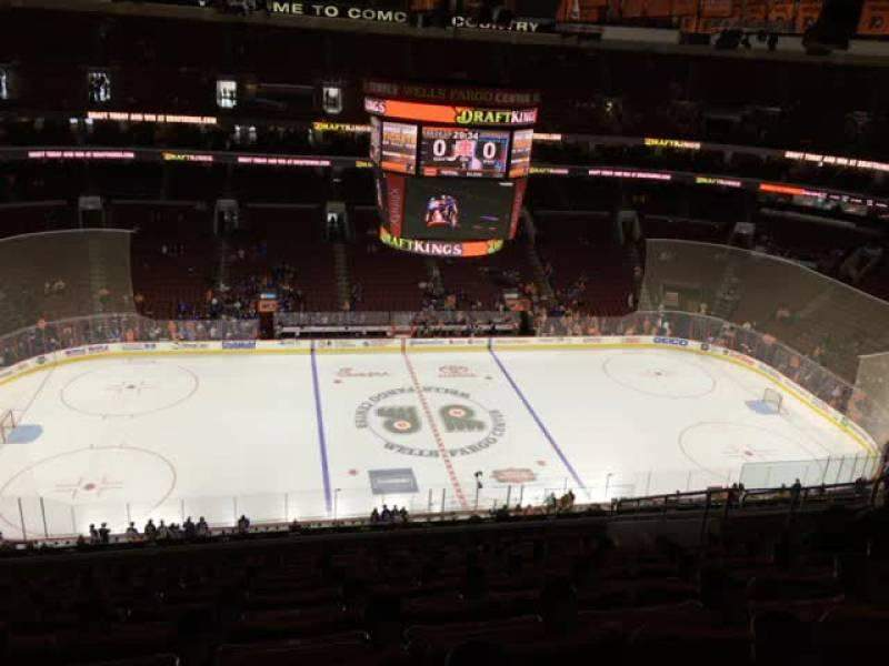 Seating view for Wells Fargo Center Section 212 Row 14 Seat 10