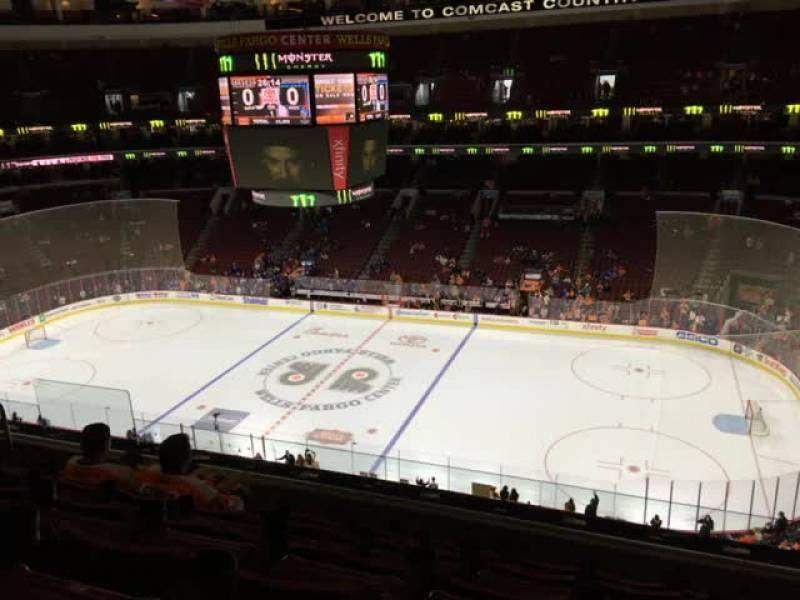 Seating view for Wells Fargo Center Section 215 Row 6 Seat 7