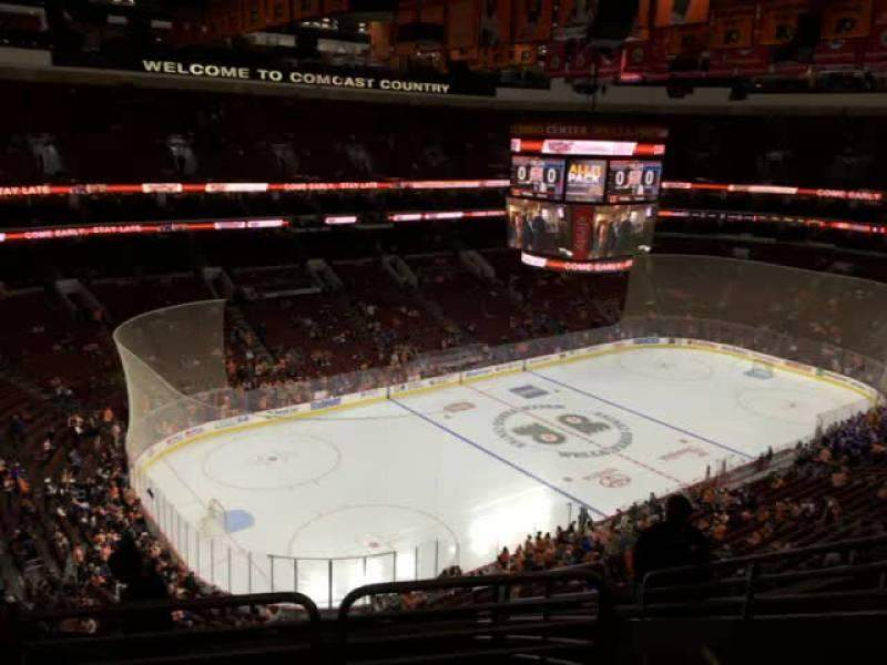 Seating view for Wells Fargo Center Section 222 Row 6 Seat 12