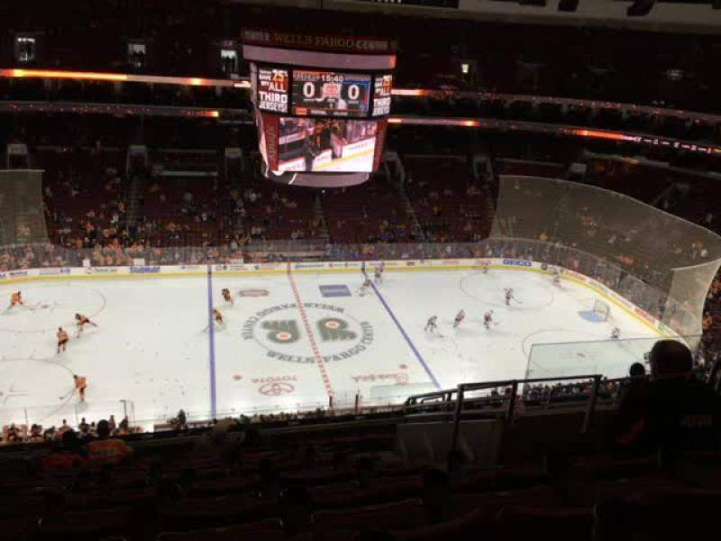 Seating view for Wells Fargo Center Section 224 Row 11 Seat 15