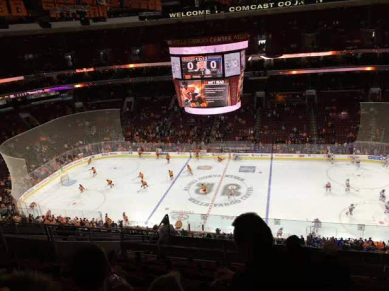 Seating view for Wells Fargo Center Section 202 Row 12 Seat 10