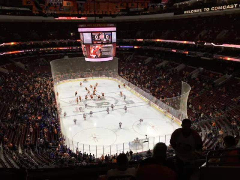 Seating view for Wells Fargo Center Section 206 Row 8 Seat 11