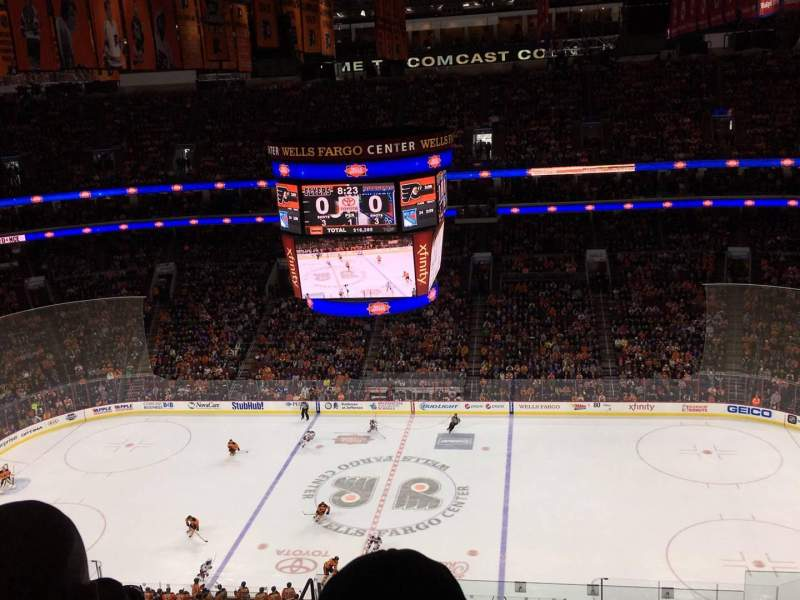 Seating view for Wells Fargo Center Section 202 Row 15 Seat 9