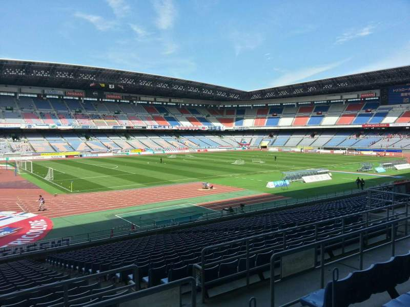 Seating view for Nissan Stadium (Yokohama) Section Lower Stand Row 22 Seat 112